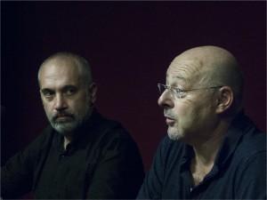 Joaquim Roque de la Federació i Enric Roca de Cineclub Manresa