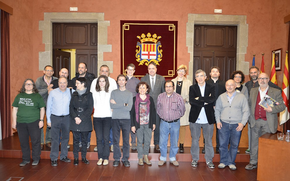Al Saló de sessions de l'Ajuntament de Manresa